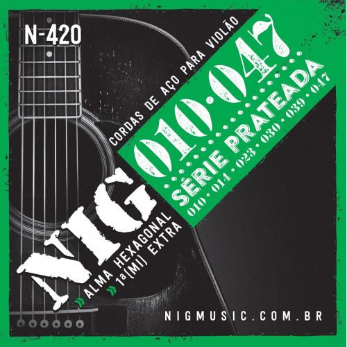 ENC.VIOLAO ACO/PRATEADA-.10 /.47 - 6 CORDAS