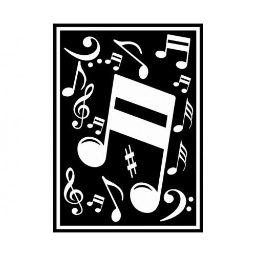 ADESIVO MUSICAL BRANCO