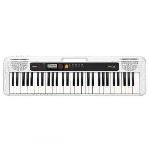 TECLADO MUSICAL CASIOTONE BASICO DIGITAL BRANCO MODELO CT-S200WEC2-BR