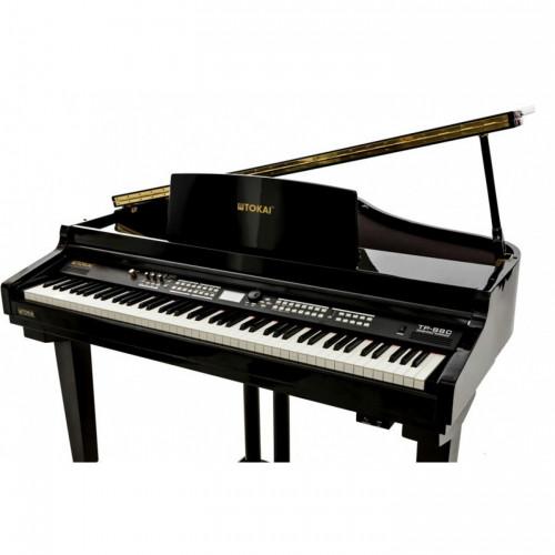 PIANO DIGITAL 1/4 CAUDA TP88C PRETO