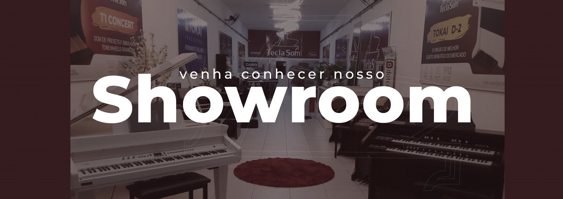Loja de instrumento musicais showroom